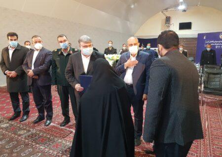 تقدیر از خانواده شهید مبارزه با مواد مخدر استان خراسان رضوی