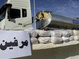 توقیف کامیون حامل ۲ تن مرفین در شهرستان میناب